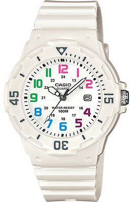 Casio Lrw200h 7B Womens White Resin Band 100M Sports Day Date Analog Watch