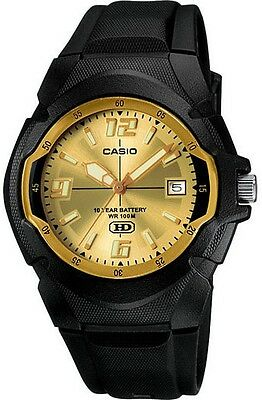 Casio MW600F-9AV, 10 Year Battery Watch, 100 Meter WR, Black Resin, Date