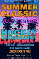 Summer Classic Adult Hockey Tournament - London Sports Park