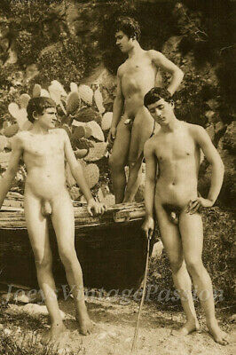 1800s NUDE Art Three Young Men in Sicily Gay Interest 4