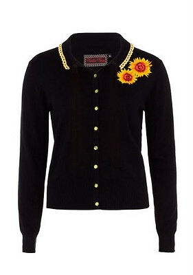 VOODOO VIXEN SUNFLOWER LADIES CARDIGAN COURTNEY VINTAGE ROCKABILLY 50'S