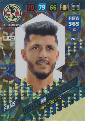 FIFA 365 CARDS 2018 248 GUIDO RODR GUEZ CLUB AM RICA IMPACT SIGNING