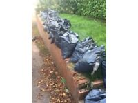 Topsoil in refuse bags, free of charge.