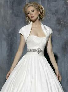 Maggie Sottero White Wedding Gown with Bolero Jkt