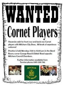Wanted Cornet Players Mitcham Mitcham Area Preview