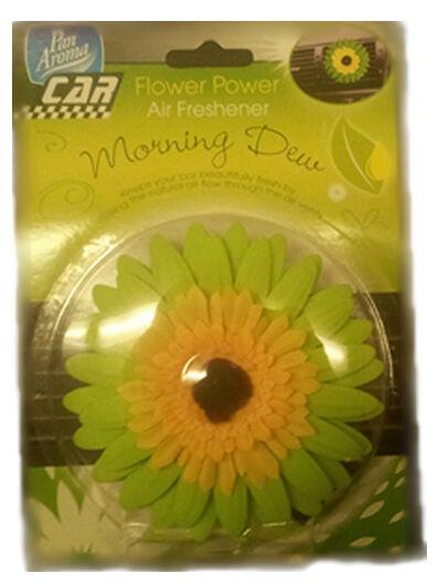 FLOWER POWER MORNING DEW CAR VEHICLE INTERIOR SCENT AIR FRESHENER