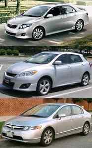 2009 Toyota Corolla/Matrix or 2006 Honda Civic