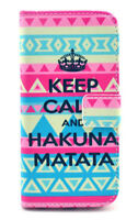 """iPhone 6 Plus (5.5"""") Keep Calm Leather Stand Flip Case Cover"""