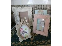 Laura Ashley ornate photo frames x 4