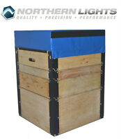 NORTHERN LIGHTS Plywood Plyo Boxes with Foam Top PBWOOD