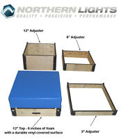 NORTHERN LIGHTS Plywood Plyo Boxes with Foam Top PBWOODADJ