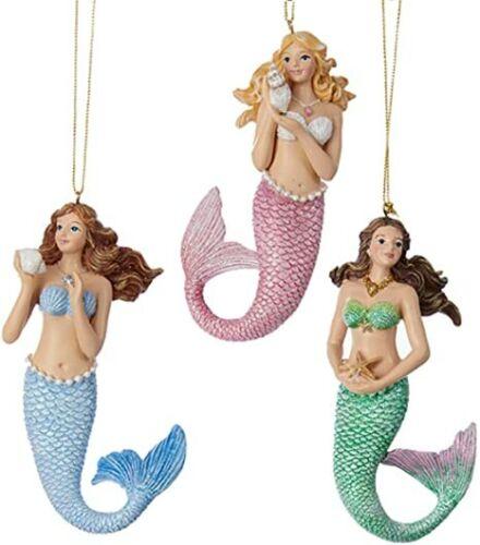 Mermaid Ornaments set of 3 by Kurt Adler C6711