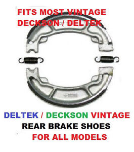 DELTEK-DECKSON-REAR-BRAKE-SHOES-VINTAGE-AUSTRALIAN-MINI-BIKE-BRAKE-SHOES