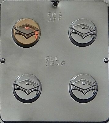 Graduation Cap   Scroll Oreo Cookie Chocolate Candy Mold 1646 New