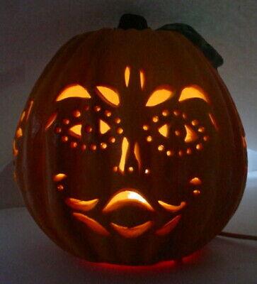 1996 Matrix Foam JACK O LANTERN PUMPKIN Halloween LIGHTS UP UNIQUE Carved DESIGN - Halloween Pumpkin Lantern Designs
