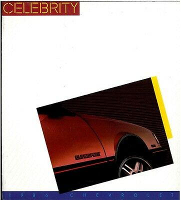1986 Chevrolet Chevy Celebrity and Eurosport 20-page Original Car Sales Brochure