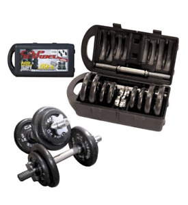 NEVER USED Barbell Dumbbell Weights Set, 40 lb
