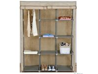 Brand New Canvas Wardrobe Double - Beige