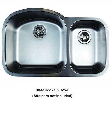 - BLANCO 441022 STELLAR 1.6 Bowl Undermount Stainless Steel Kitchen Sink