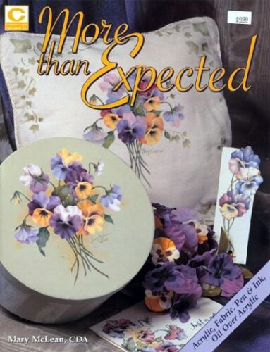 More Than Expected Decorative Painting Book by Mary McLean