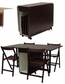Table Foldable + 4 Chairs IKEA