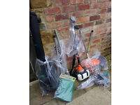 gardening tools. combi hedge cutter,strimmer,brush cutter, chainsaw, leaf blower