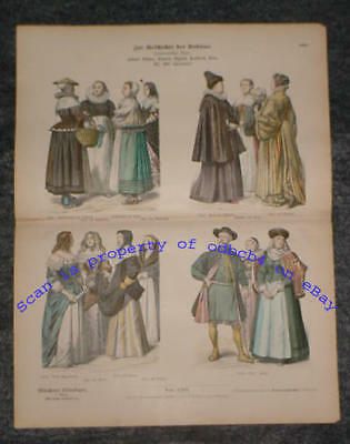 EUROPE 16th-17th Centuries, Various Historic costumes, Styles, Dress, Fashions