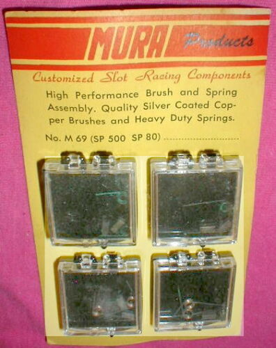 16 High Perf Silver Coated Copper Brushes & Copper Spring Assembly by Mura NOS