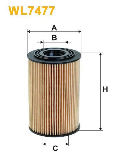 WIX WL7477 Car Oil Filter Eco Cartridge Replaces HU7001x CH10670ECO OX351D
