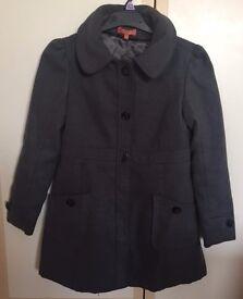 Girls Grey Coat Aged 9-10