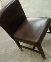 Leather dining chairs for restaurant