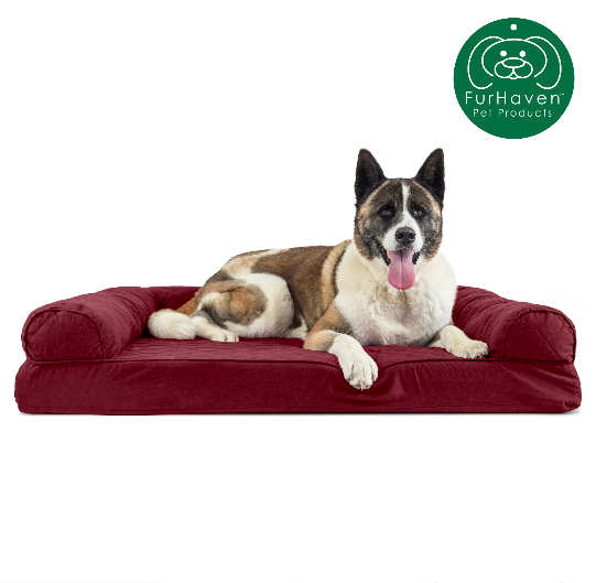 furhaven pet dog bed memory foam quilted
