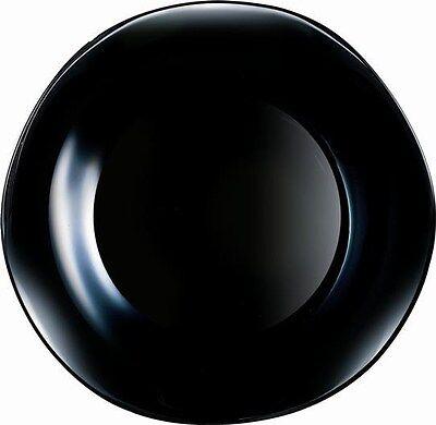 6 Teller 27 cm VOLARE schwarz gewellter Rand  Arcoroc  Arcopal  ()