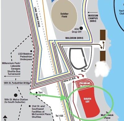 Chicago Bears Soldier Field 2021-22 Season South Parking Lot Passes *TAILGATING*