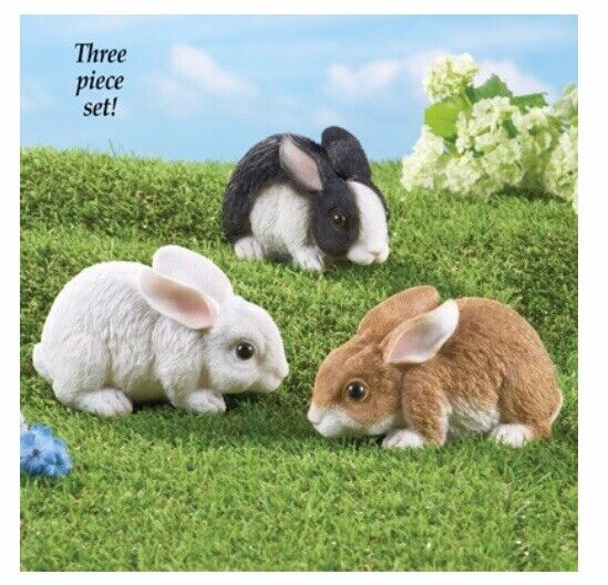 Garden Bunnies Set Of 3