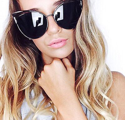 Large Lana Big Cat Eye Nocturnelle Kitty Pinup Fashion Designer Sunglasses 4015