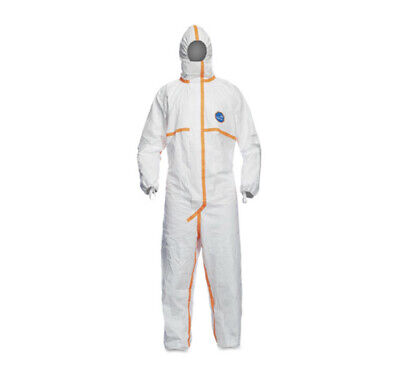 Dupont Tyvek 800j Cat 3 Iii Chemical Resistant Protective Coverall Hazmat Suit L