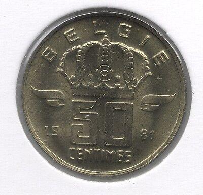 50 cent 1981 vlaams - groot Hoofd * F D C *