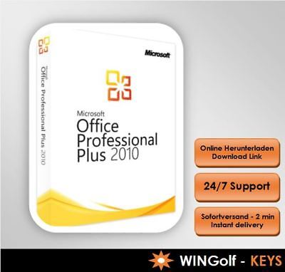 MS Office 2010 Professional Plus, MS Office PP, 32&64 Bit Produktkey per email