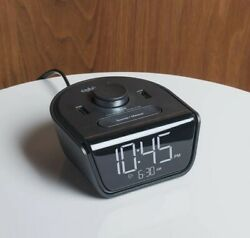 Alarm Clock Radio, 220volts, two(2)USB ports for charging. Display dimmer. 220V
