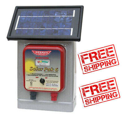 High Quality Solar Power Electric Fencer Charger Low Impedance 6 Volt 25 Mile