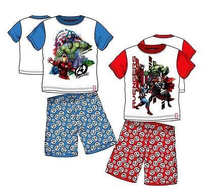 Avengers Captain America Anzug (Avengers kurzer Schlafanzug Pyjama Shorty Kinder Captain America Hulk 98-140 )