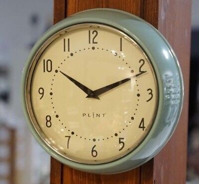 Wanduhr Küchenuhr Retro Design Vintage Metall Küche Quarzuhr Uhr mintgrün