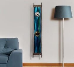 Modern Abstract Contemporary Metal Clock Sculpture
