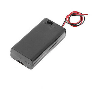 Box For Batteries 2 X Aa Battery Holder Switch
