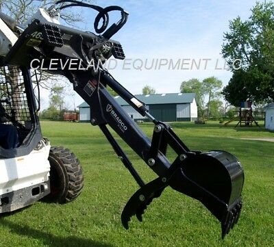 New Bradco Swing Hoe Backhoe Attachment Bobcat Skid Steer Loader Excavator Arm