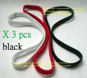 A0040-3x-Men-Elastic-Sport-Running-Women-Soccer-Football-Headband-Hairband-Black