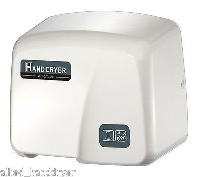 Fastdry Mod. 1800pa Automatic Hand Dryer With Free Wall-plug White Abs Cover