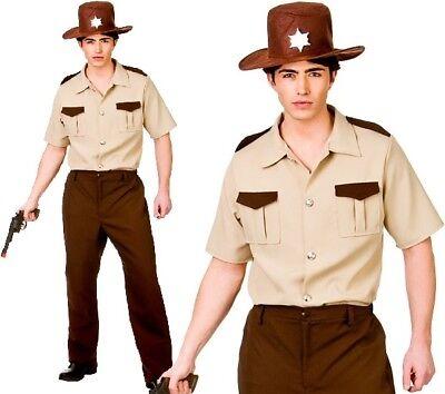 Mens US Sheriff Fancy Dress Costume Men's US Deputy Outfit New w