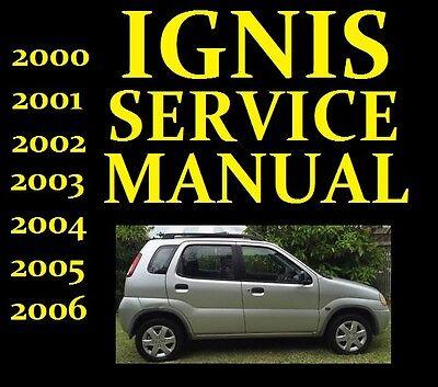 Suzuki IGNIS Service Workshop Repair Manual Wiring Part RG413 RG415 USED 2000-06